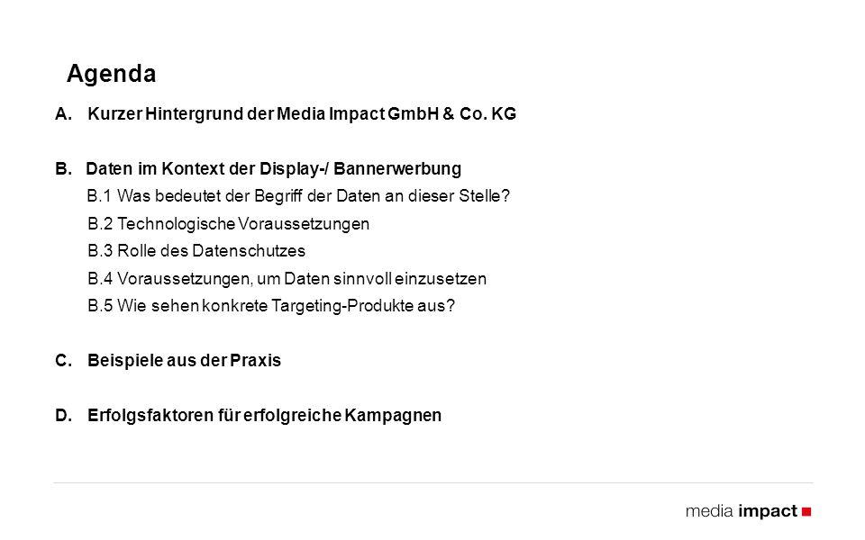 Agenda A.Kurzer Hintergrund der Media Impact GmbH & Co.