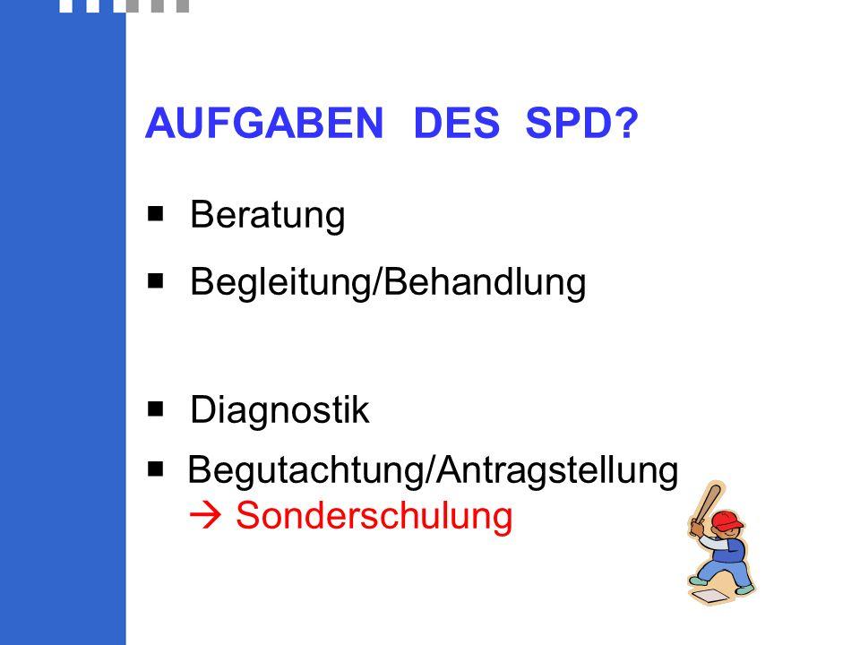 AUFGABEN DES SPD.