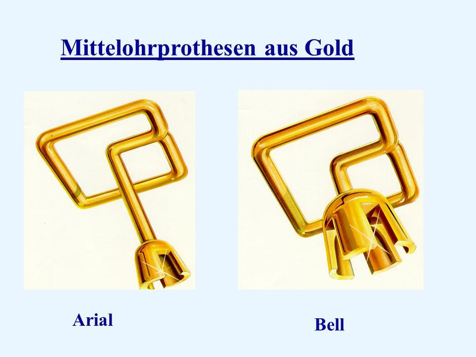 Mittelohrprothesen aus Gold Arial Bell