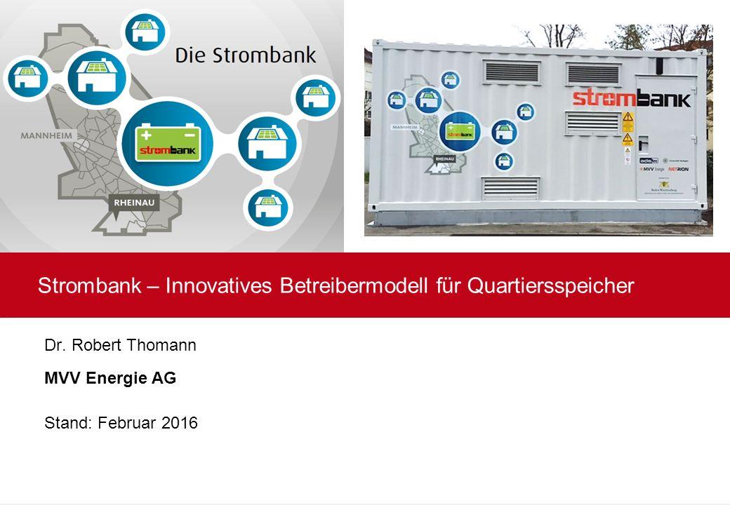 Strombank – Innovatives Betreibermodell für Quartiersspeicher Dr.