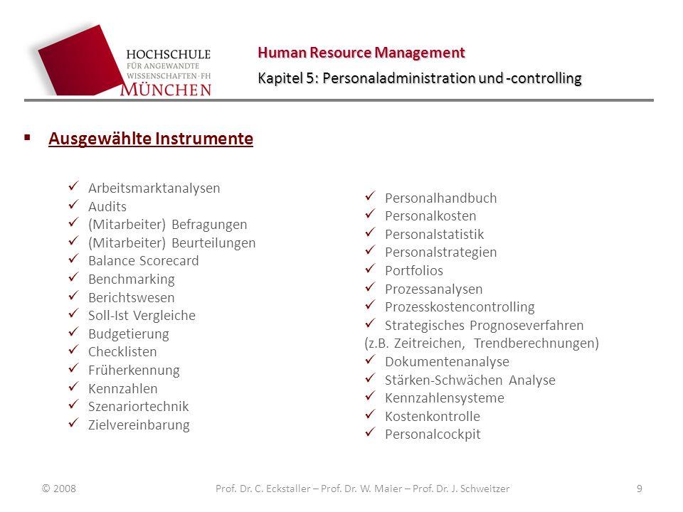 Human Resource Management Kapitel 5: Personaladministration und -controlling Personalcontrolling Personalstatistik/ Personalaufwand Sowohl der Personalaufwand als auch die Sozialleistungen sind wichtige Größen.