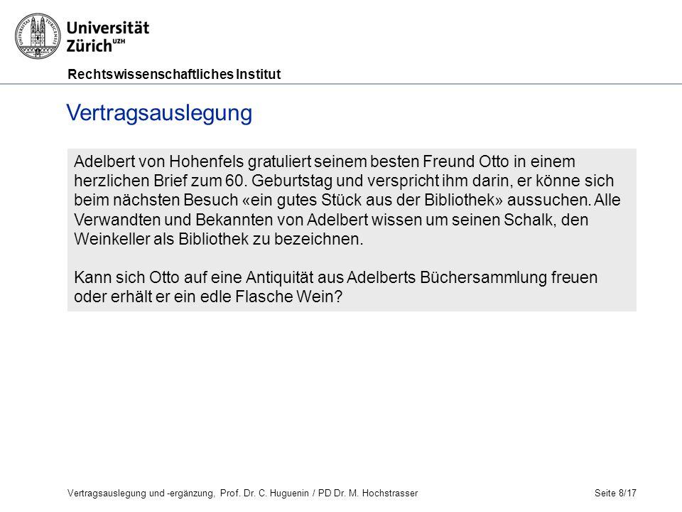 Rechtswissenschaftliches Institut Adelbert von Hohenfels gratuliert seinem besten Freund Otto in einem herzlichen Brief zum 60.