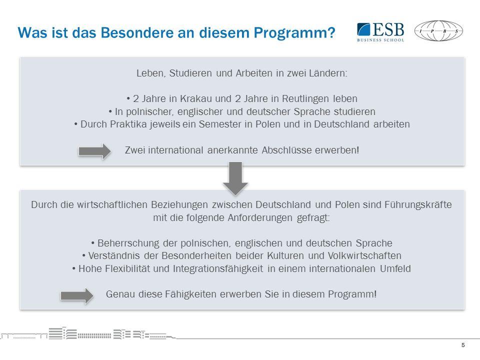 Deutsch-polnischer Studiengang 3.Semester 4. Semester 2.