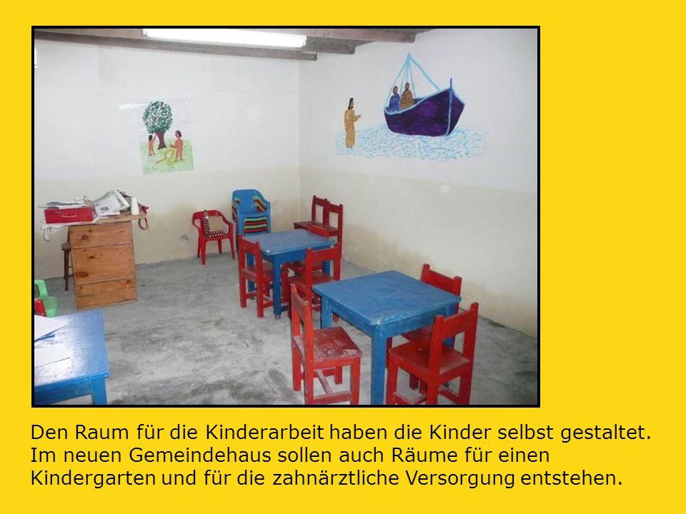 Den Raum für die Kinderarbeit haben die Kinder selbst gestaltet.