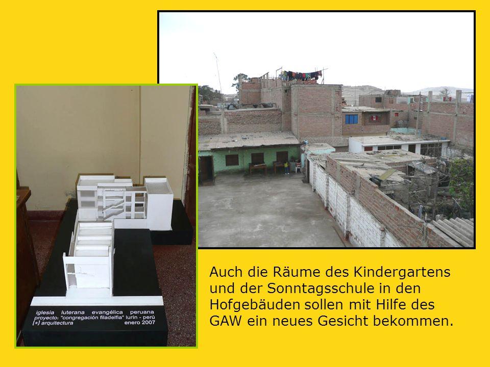 Auch die Räume des Kindergartens und der Sonntagsschule in den Hofgebäuden sollen mit Hilfe des GAW ein neues Gesicht bekommen.