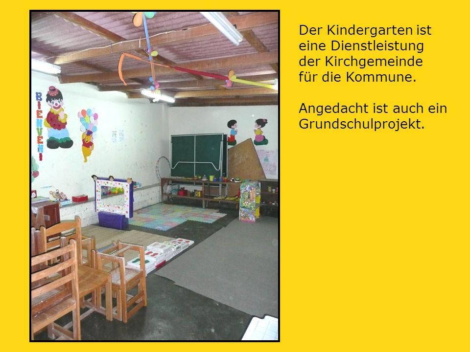 Der Kindergarten ist eine Dienstleistung der Kirchgemeinde für die Kommune.