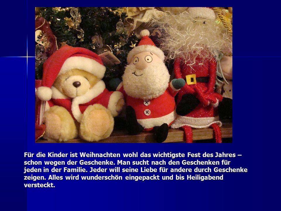 Für die Kinder ist Weihnachten wohl das wichtigste Fest des Jahres – schon wegen der Geschenke.