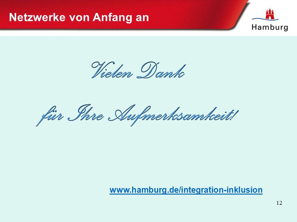 www.hamburg.de/integration-inklusion 12 Netzwerke von Anfang an