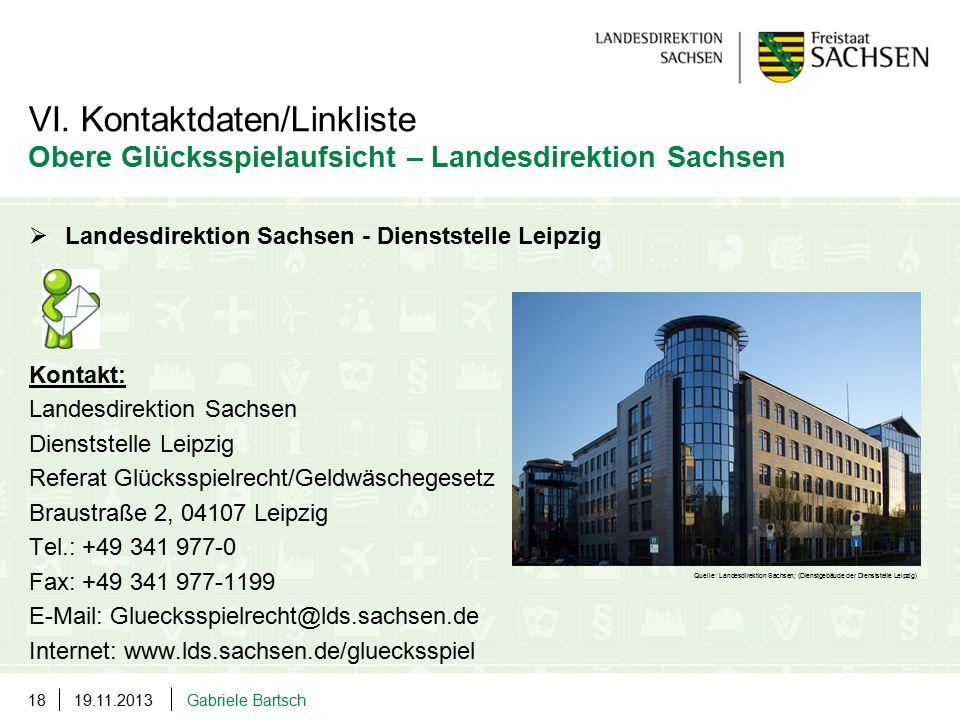  Landesdirektion Sachsen - Dienststelle Leipzig Kontakt: Landesdirektion Sachsen Dienststelle Leipzig Referat Glücksspielrecht/Geldwäschegesetz Braus