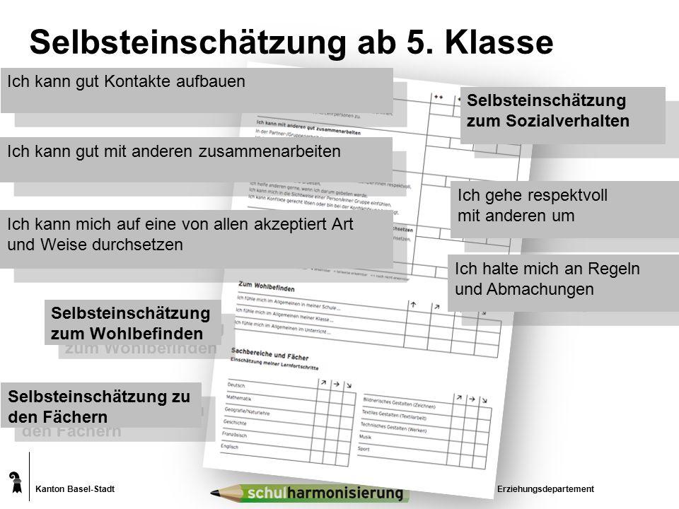 Kanton Basel-Stadt Selbsteinschätzung ab 5.