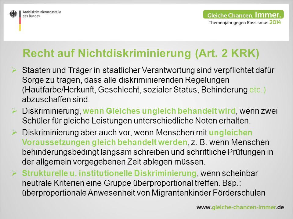Recht auf Nichtdiskriminierung (Art.