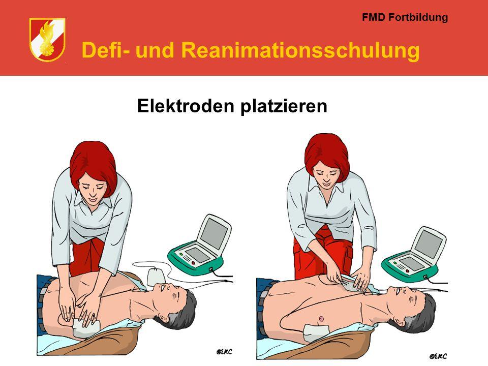 FMD Fortbildung Defi- und Reanimationsschulung Elektroden platzieren
