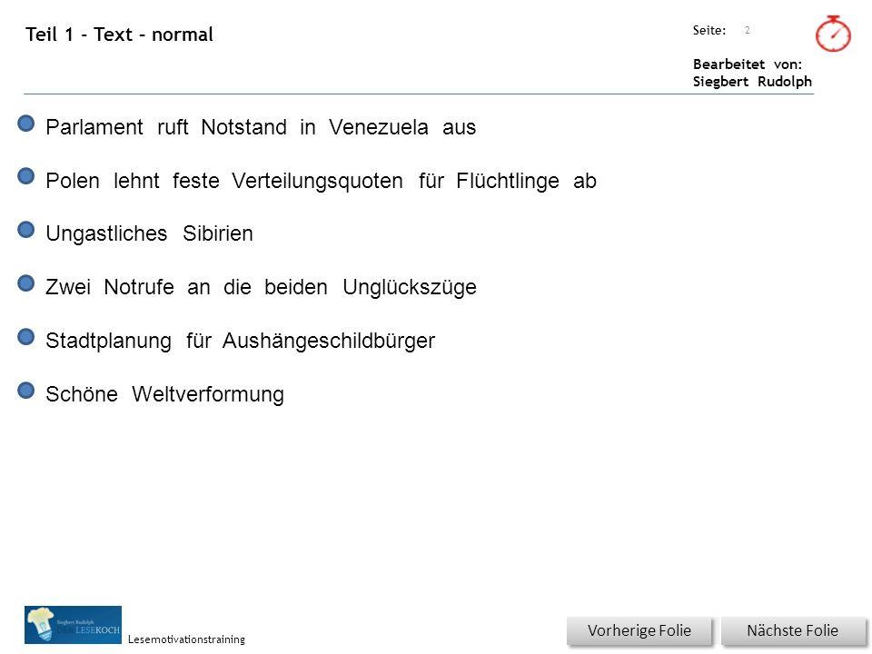 Übungsart: Seite: Bearbeitet von: Siegbert Rudolph Lesemotivationstraining 33 Wortschatz – Was ist richtig.