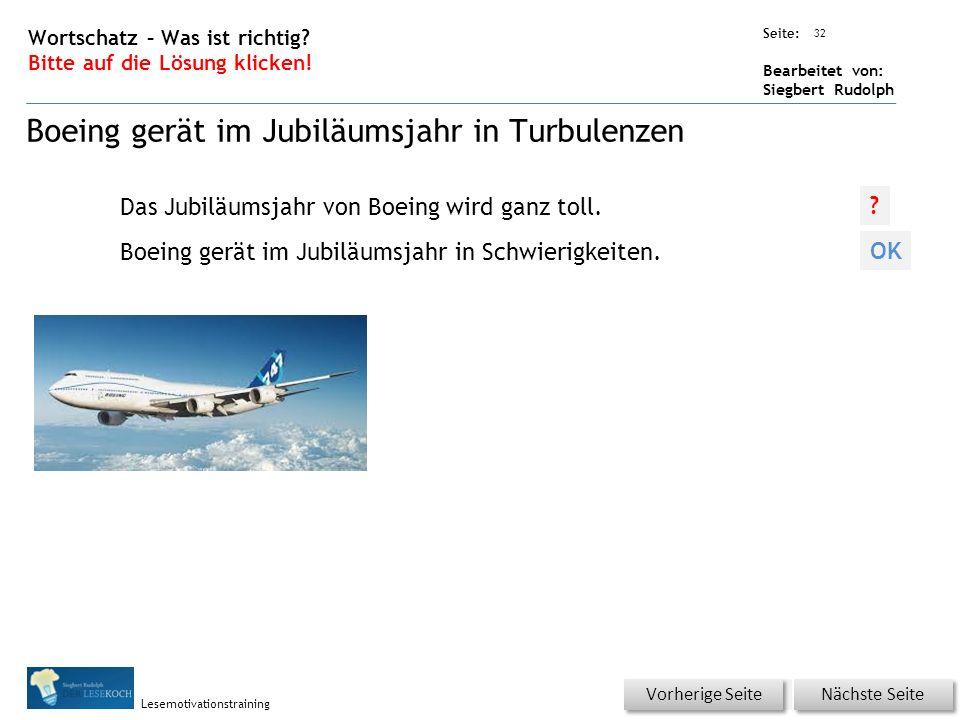 Übungsart: Seite: Bearbeitet von: Siegbert Rudolph Lesemotivationstraining 32 Wortschatz – Was ist richtig.
