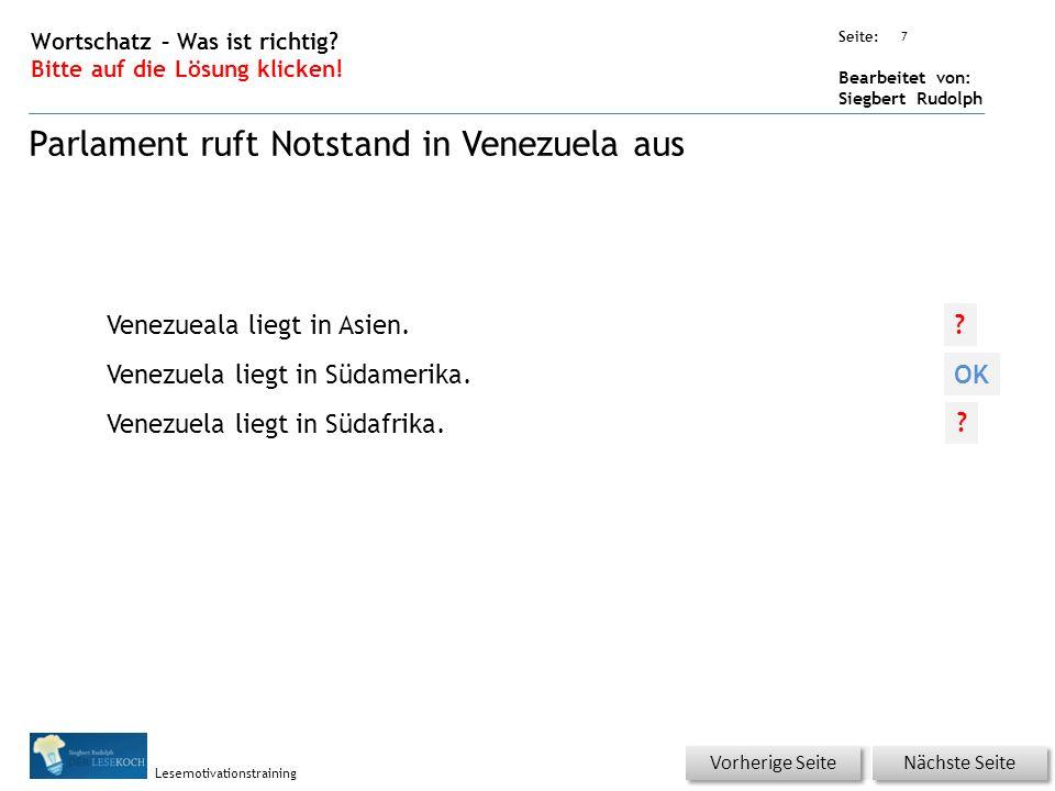 Übungsart: Seite: Bearbeitet von: Siegbert Rudolph Lesemotivationstraining 7 Wortschatz – Was ist richtig.