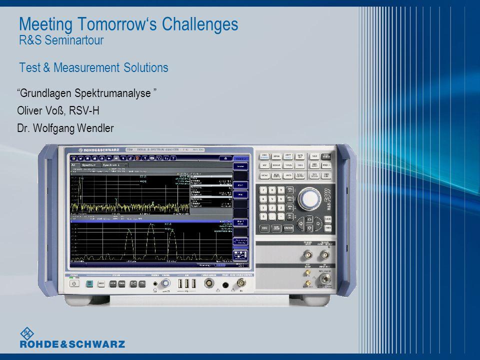April 2012| Grundlagen Spektrumanalyse | 12 Realisierung eines SPA - HF Konzept R&S FSV