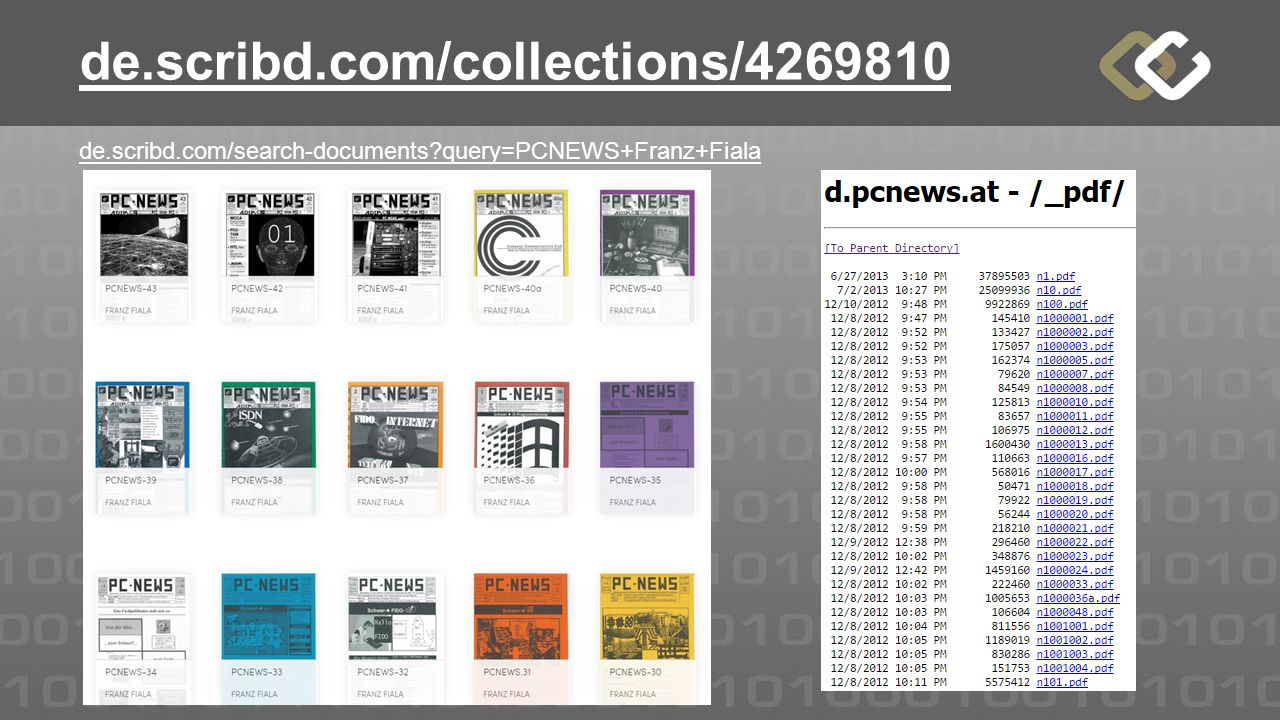 de.scribd.com/collections/ de.scribd.com/search-documents query=PCNEWS+Franz+Fiala