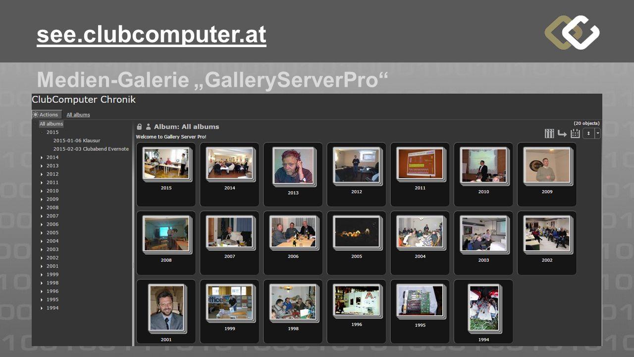 """Medien-Galerie """"GalleryServerPro"""" see.clubcomputer.at"""