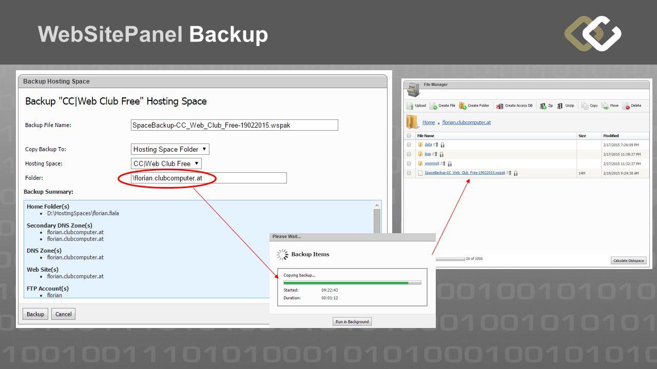 WebSitePanel Backup