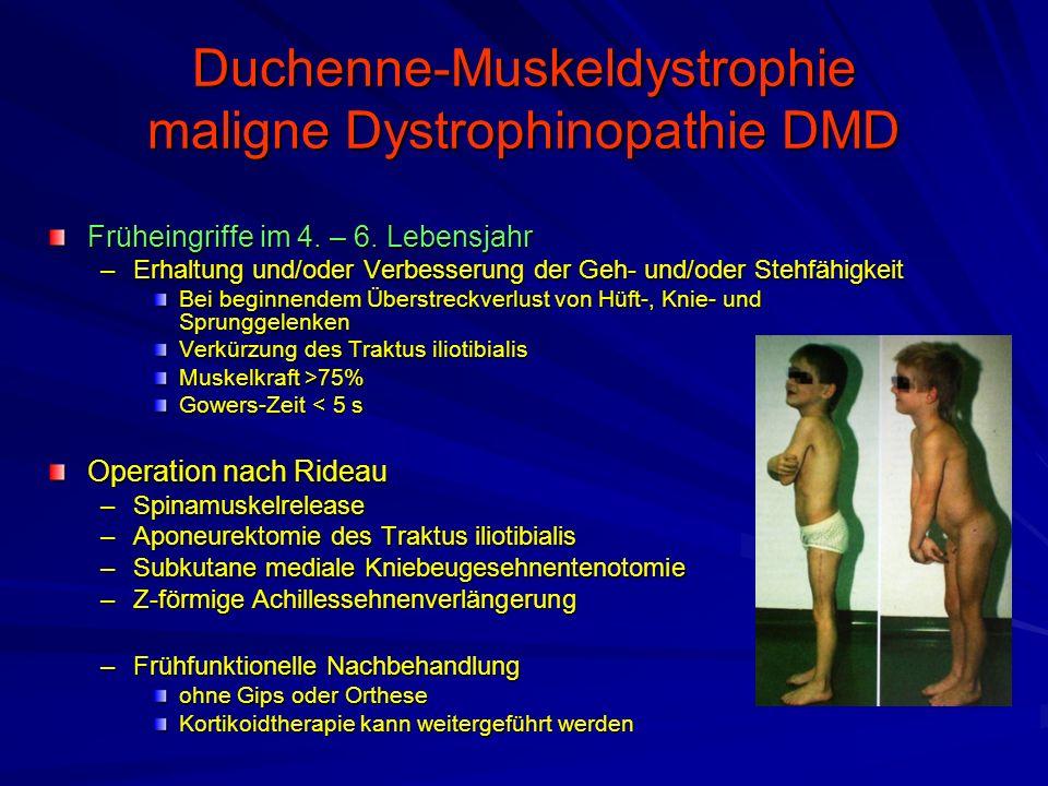Duchenne-Muskeldystrophie maligne Dystrophinopathie DMD Früheingriffe im 4.