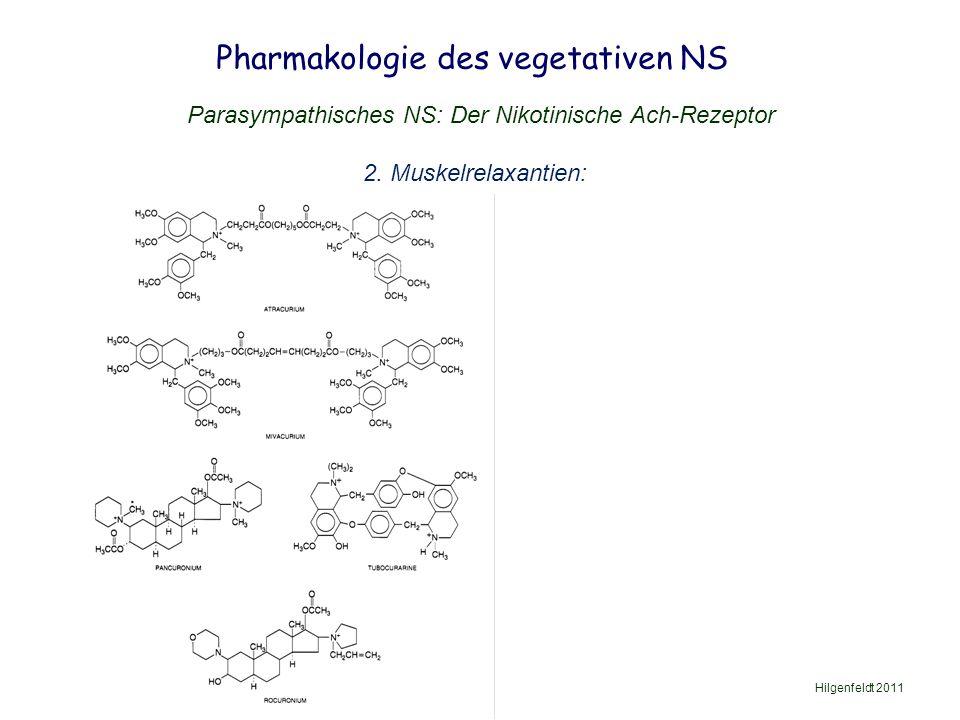 Pharmakologie des vegetativen NS Parasympathisches NS: Der Nikotinische Ach-Rezeptor 2.
