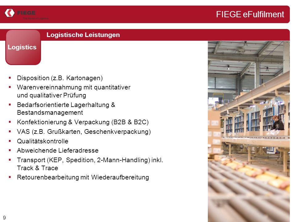 9 Logistische Leistungen Logistics  Disposition (z.B.