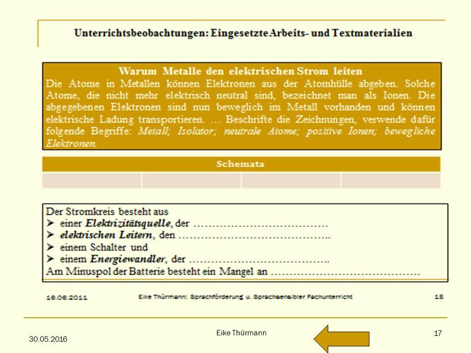 """These 2 30.05.2016 Eike Thürmann 17 S ACHFACHUNTERRICHT IN G RUPPEN MIT HOHEM A NTEIL VON """"R ISIKOSCHÜLERN"""
