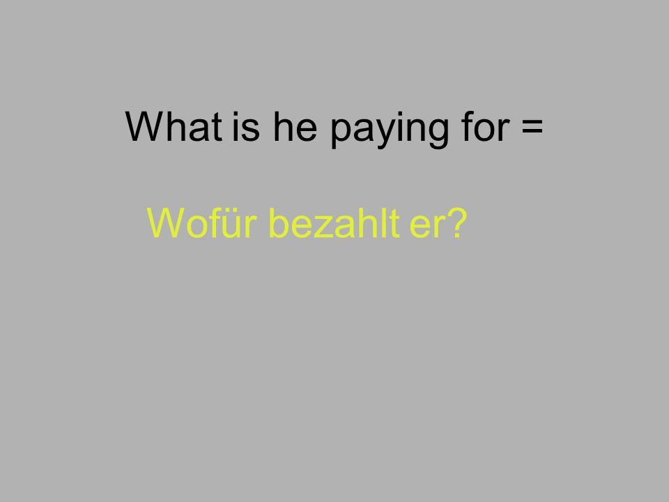 Welchen Fall benutzt man mit 'für'? Wie sagt man auf Deutsch… He already paid for his ticket. (der Fahrschein) Richtig! Akkusativ! Er hat schon für se