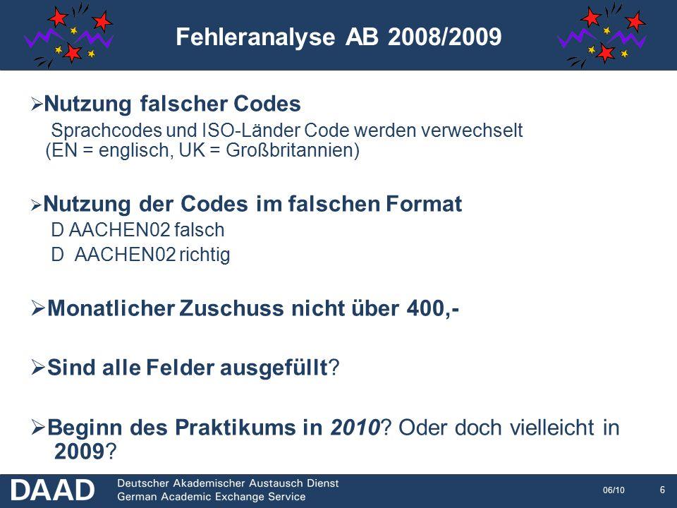 7 06/10 Feedback Konsortien Bitte um Feedback, Anregungen etc.
