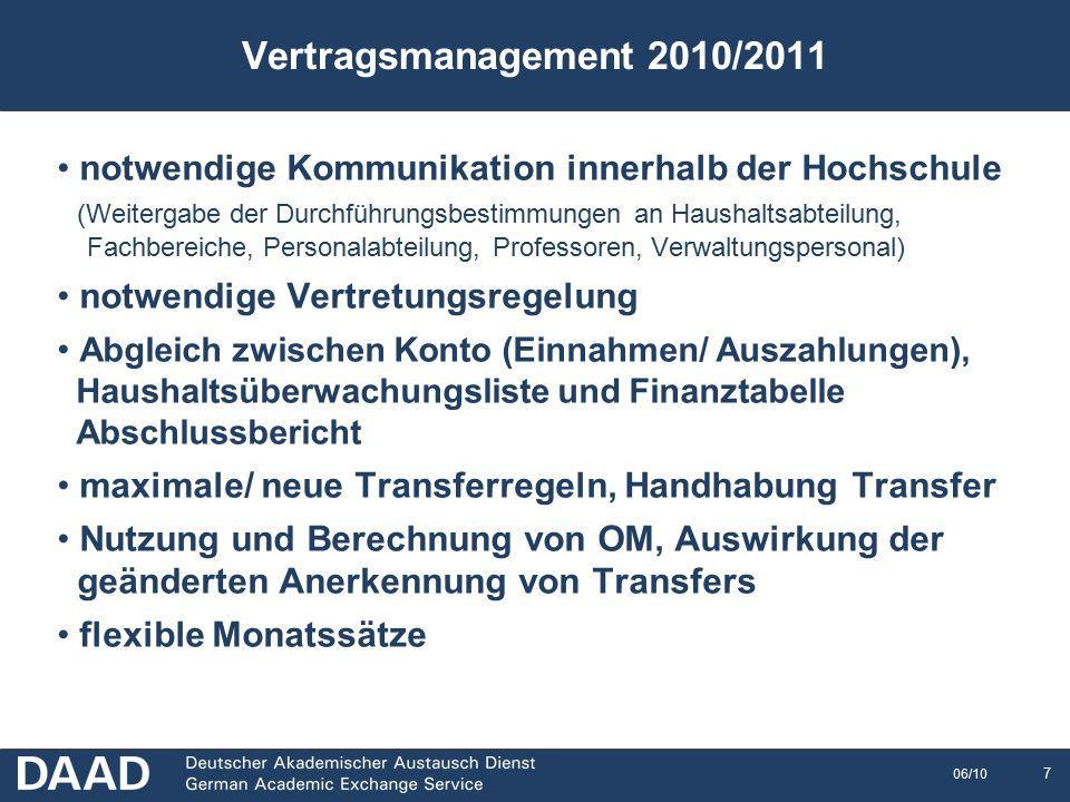8 06/10 Abschlussberichte 2009/2010 Teil II: Erstellung der Abschlussberichte 2009/2010
