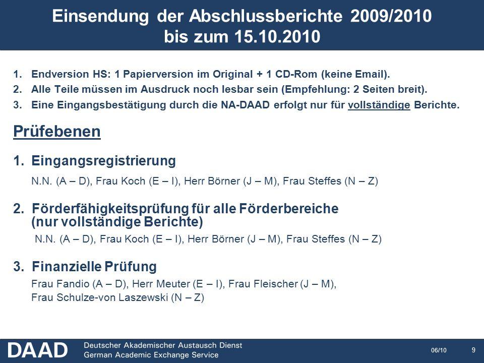10 06/10 Eingangsregistrierung Die vollständige Papierversion besteht aus Sachbericht zur Durchführung des ERASMUS-Programms 2009/2010 (und EUC-Compliance) Finanzkalkulation Einzelaufstellungen SMS, SMP, STA, STT Gesamtübersichten SMS, SMP, STA, STT (Sofern in einer Aktion eine Nullmobilität vorliegt, kann auf die Übermittlung der entsprechend leeren Einzel- und Gesamtübersichten verzichtet werden.)  Der Bericht muss als Original in einfacher Ausfertigung mit allen erforderlichen Unterschriften vorgelegt werden, Stichtag: 15.