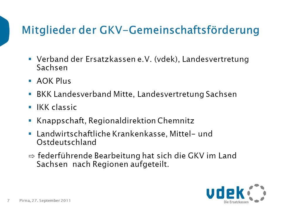 7 Mitglieder der GKV-Gemeinschaftsförderung  Verband der Ersatzkassen e.V.