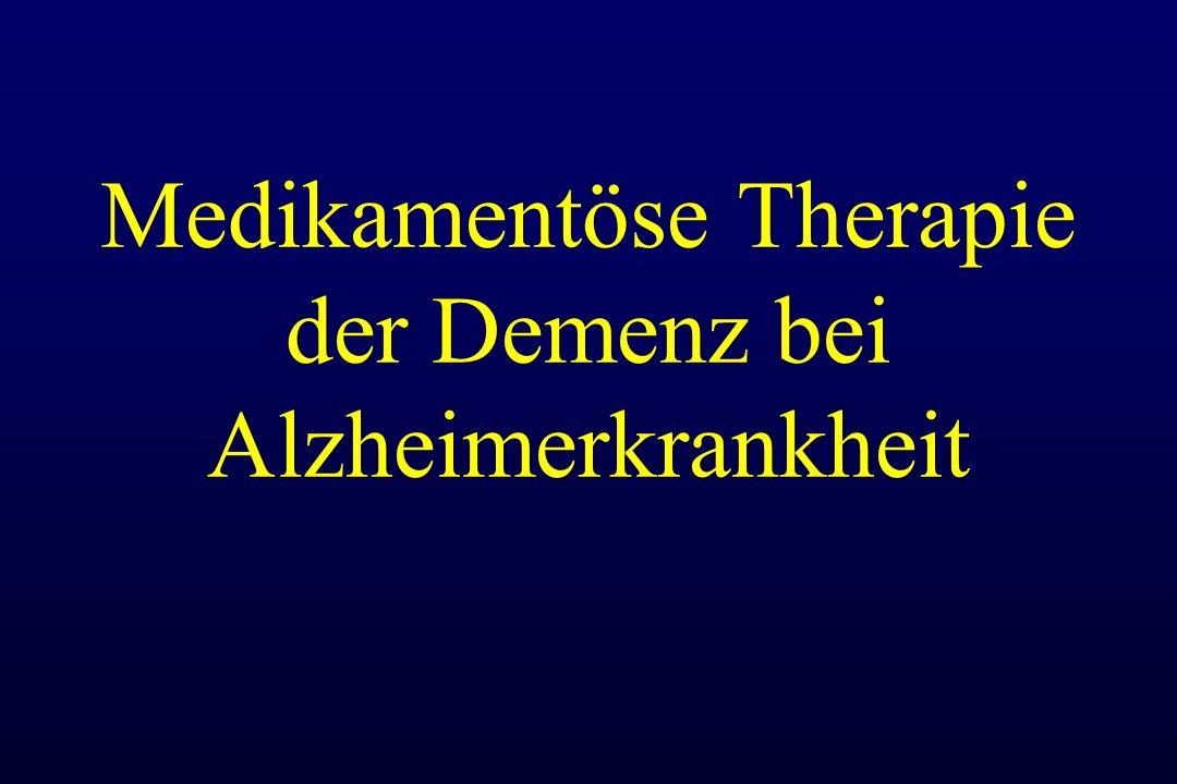 Medikamentöse Therapie der Demenz bei Alzheimerkrankheit