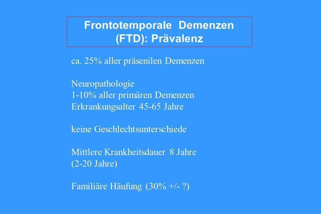 Frontotemporale Demenzen (FTD): Prävalenz ca.