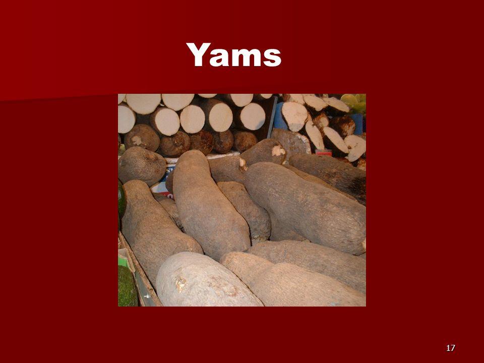 17 Yams