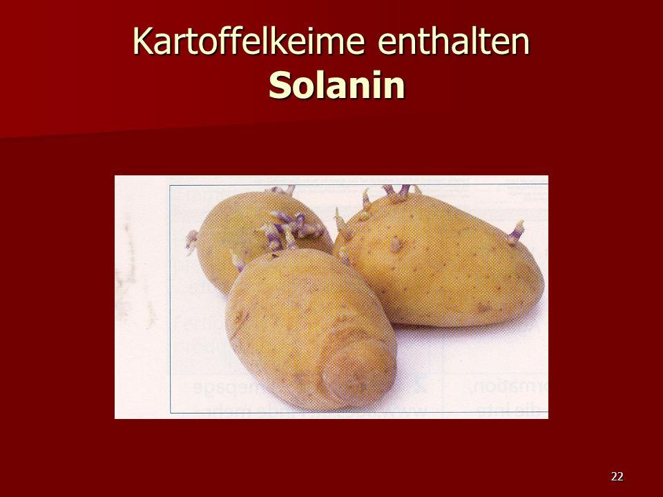 22 Kartoffelkeime enthalten Solanin