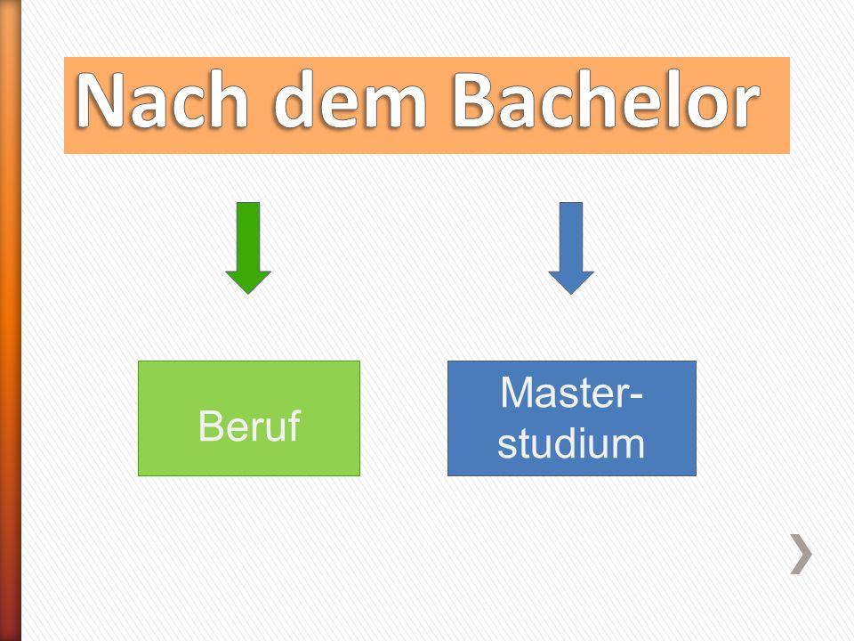 Beruf Master- studium