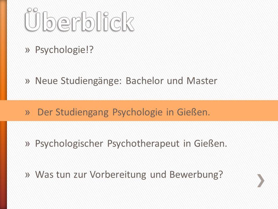 » seit WiSe 2010/11 ˃Dauer 4 Semester » 90 Studienplätze » Allgemeiner Psychologie-Master mit möglicher Schwerpunktsetzung ˃Grundlagenorientiert: Neurowissenschaften ˃Anwendungsorientiert: Pädagogische Psychologie, Klinische Psychologie, Arbeits- und Organisationspsychologie