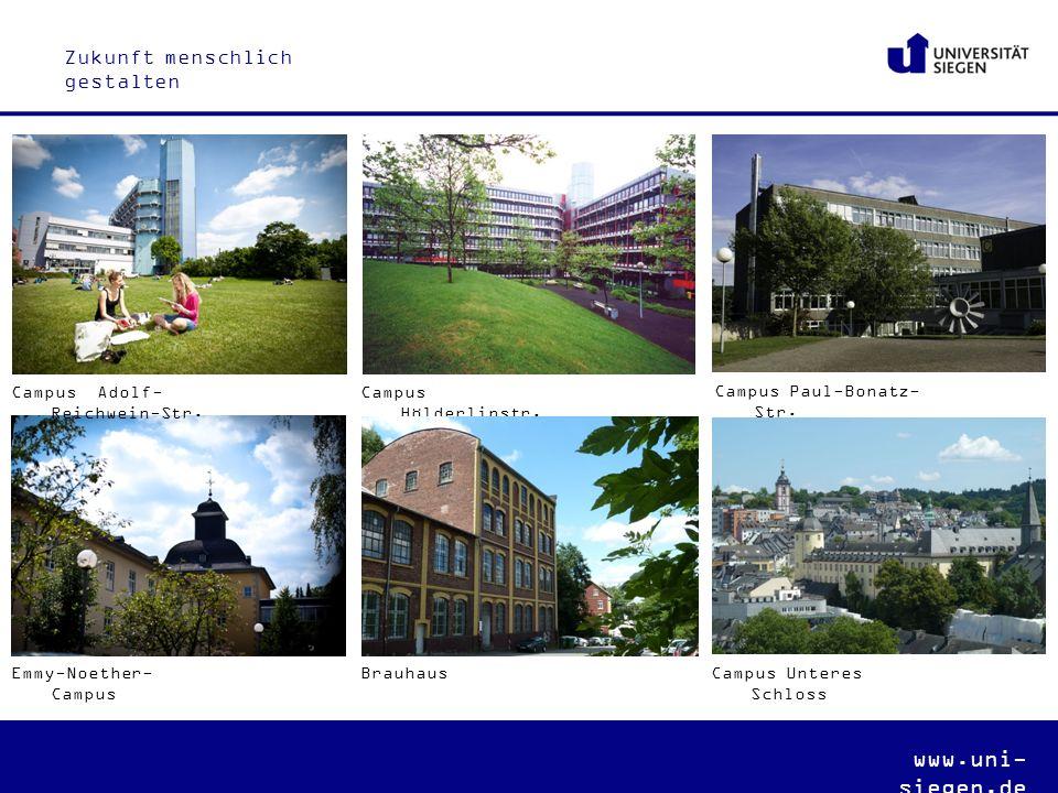 www.uni- siegen.de Campus Adolf- Reichwein-Str. Campus Hölderlinstr.