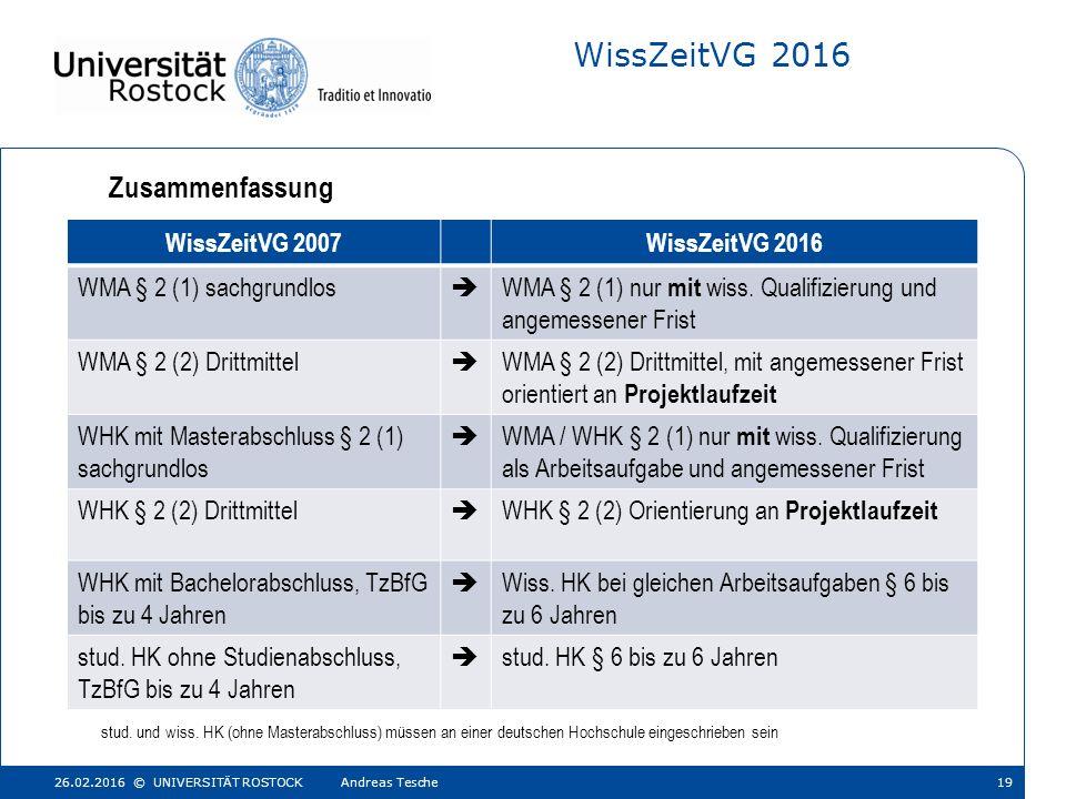 WissZeitVG 2016 stud. und wiss.