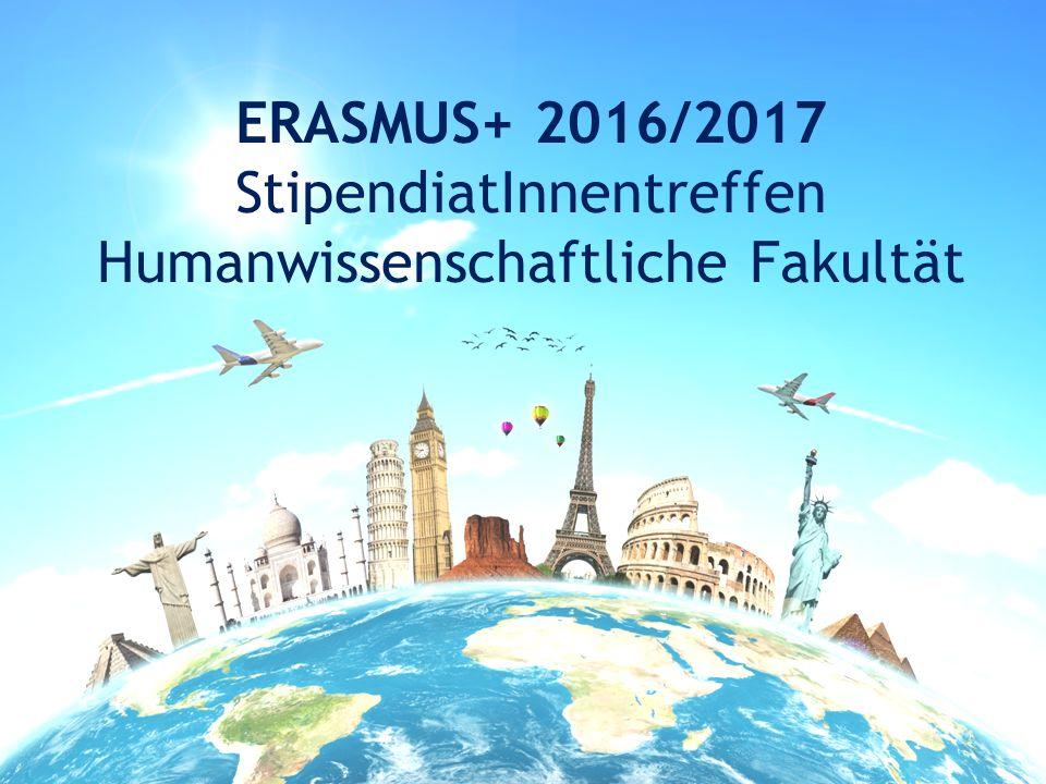 ERASMUS+ 2016/2017 StipendiatInnentreffen Humanwissenschaftliche Fakultät