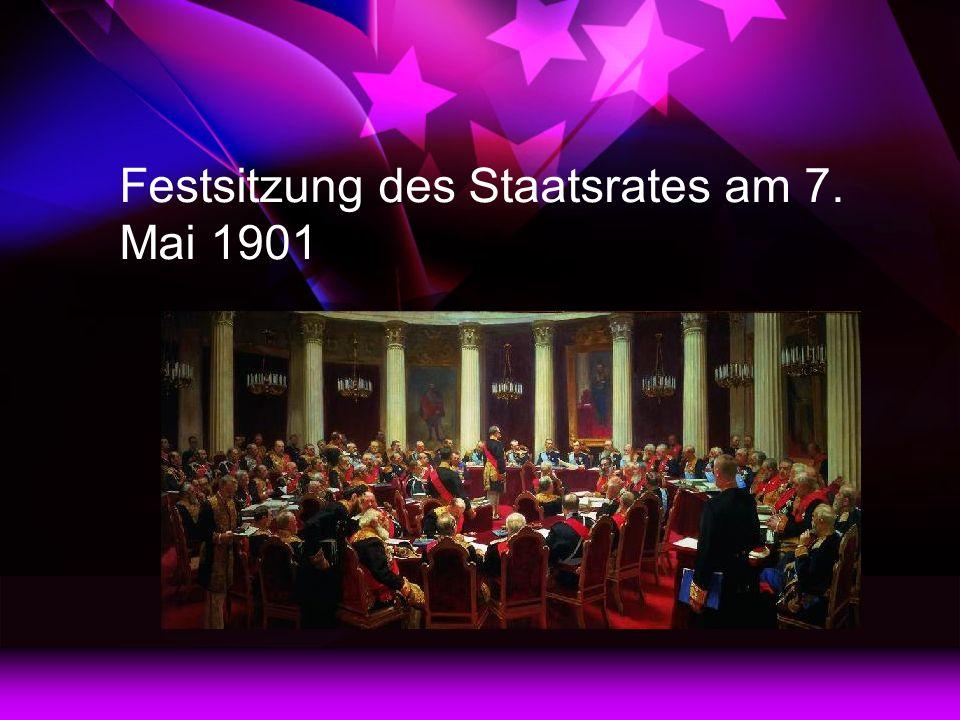 Festsitzung des Staatsrates am 7. Mai 1901