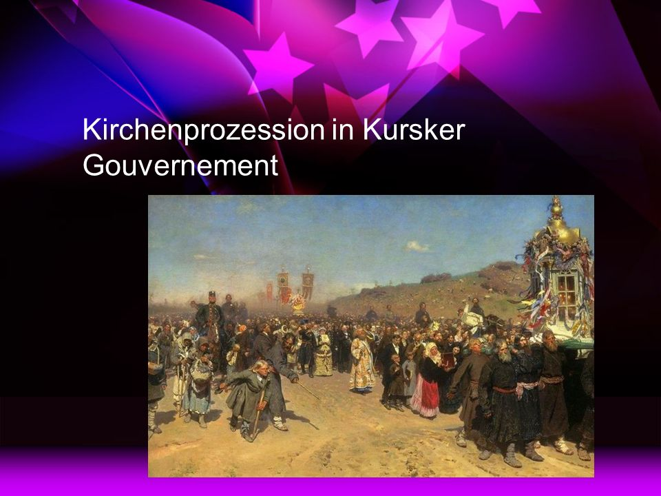 Kirchenprozession in Kursker Gouvernement