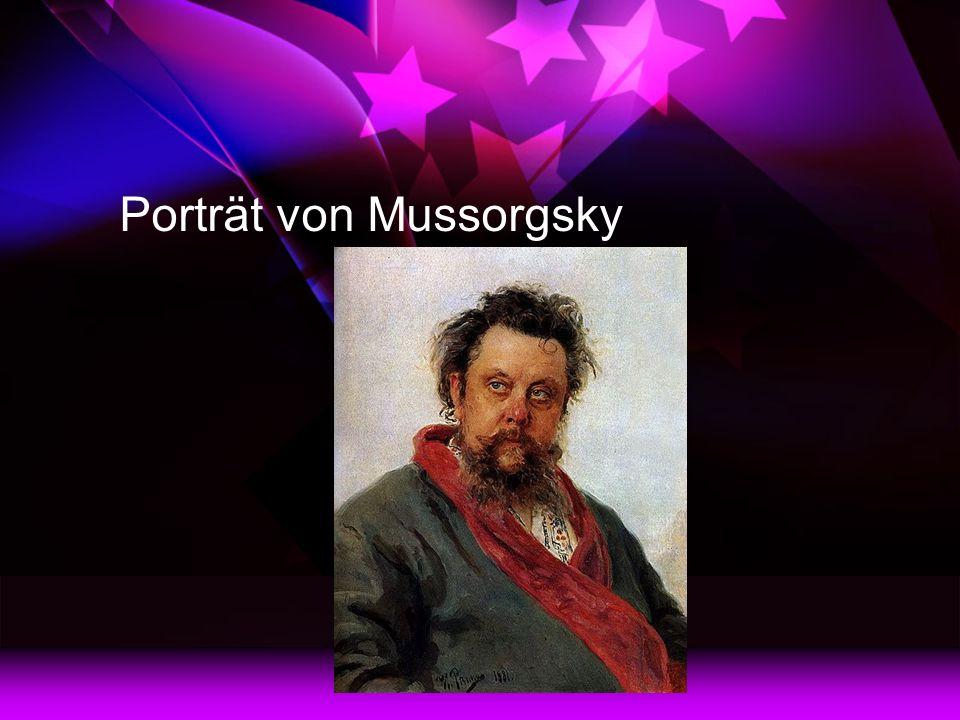 Porträt von Mussorgsky