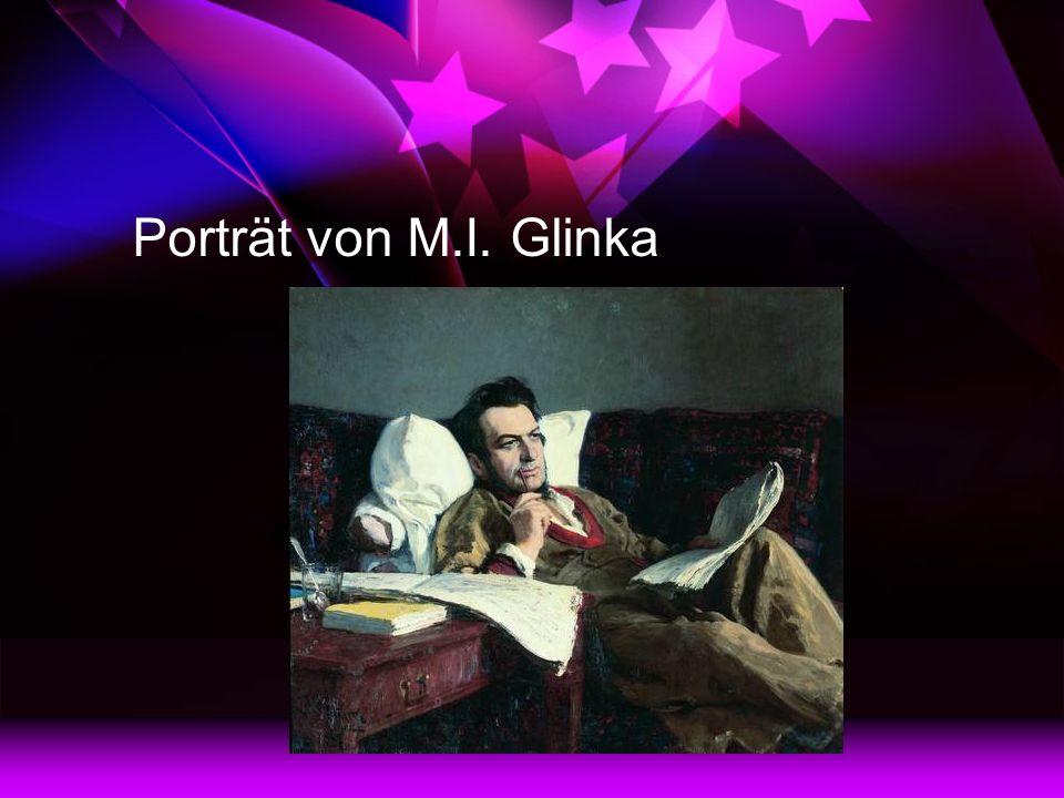 Porträt von M.I. Glinka