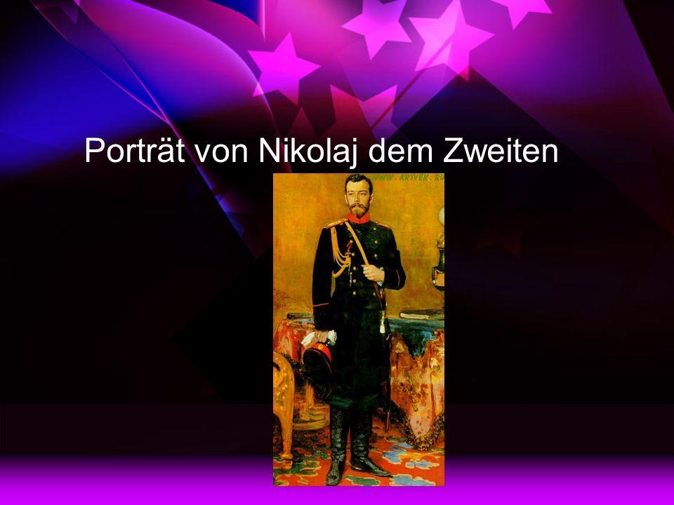 Porträt von Nikolaj dem Zweiten