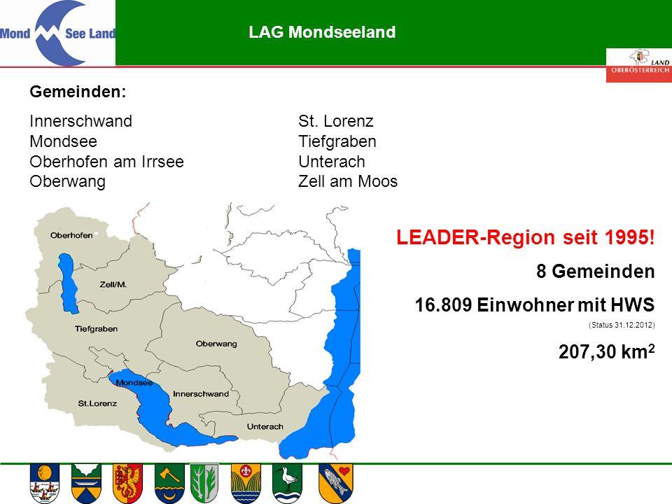 Abteilung Land- und Forstwirtschaft Gemeinden: InnerschwandSt. Lorenz MondseeTiefgraben Oberhofen am IrrseeUnterach OberwangZell am Moos LAG Mondseela