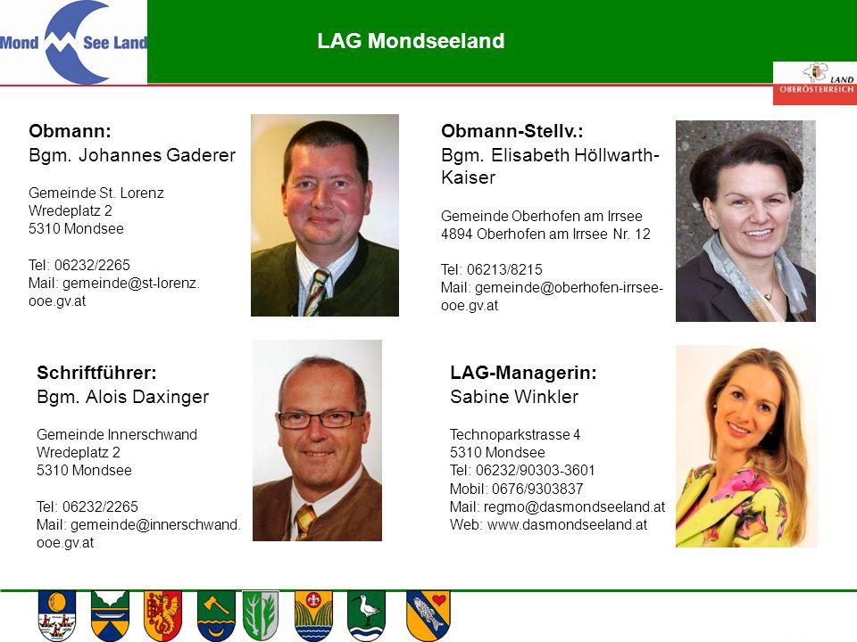 Abteilung Land- und Forstwirtschaft Obmann: Bgm. Johannes Gaderer Gemeinde St. Lorenz Wredeplatz 2 5310 Mondsee Tel: 06232/2265 Mail: gemeinde@st-lore