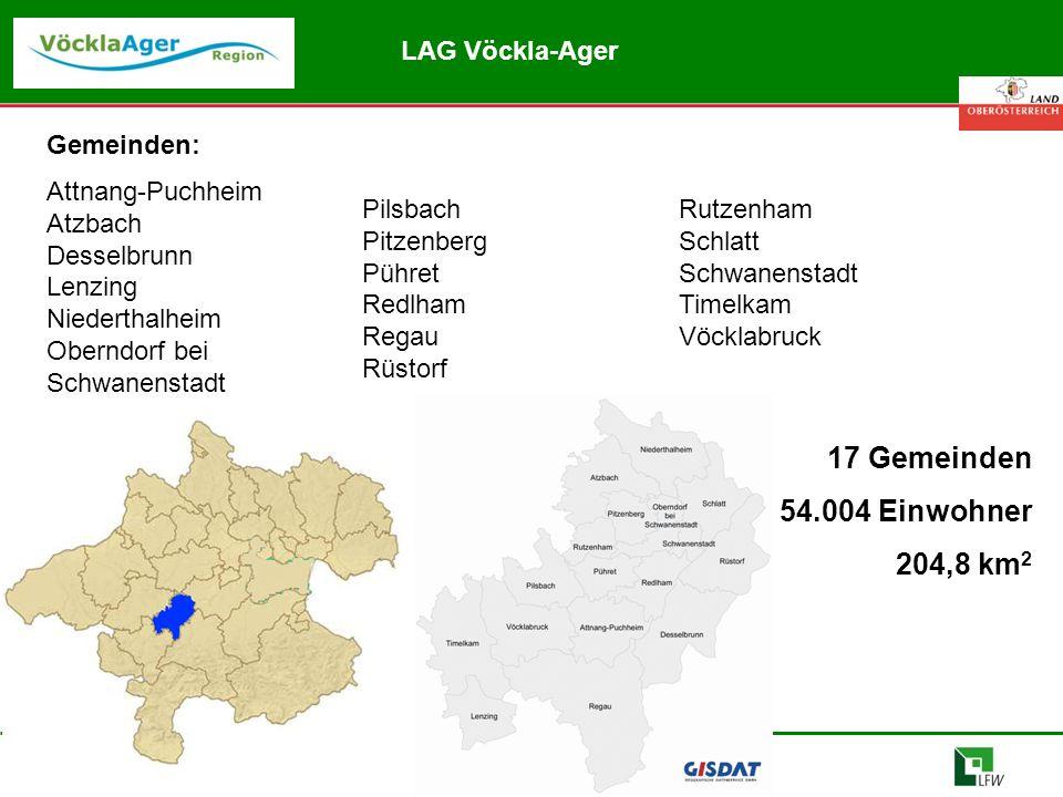 Abteilung Land- und Forstwirtschaft Gemeinden: Attnang-Puchheim Atzbach Desselbrunn Lenzing Niederthalheim Oberndorf bei Schwanenstadt Pilsbach Pitzen