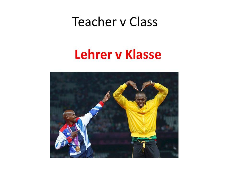 Teacher v Class Lehrer v Klasse